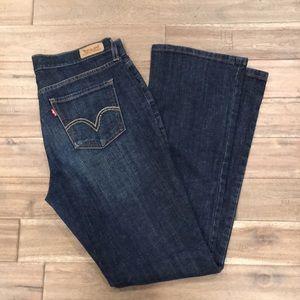 Levi's 515 Boot Cut Dark Wash Jean